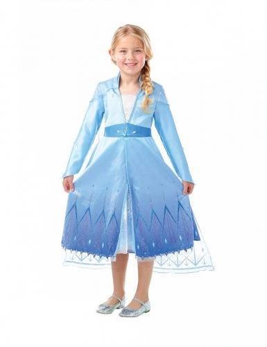 Déguisement premium Elsa La Reine des Neiges 2™ fille-2