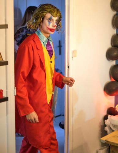 Perruque bouclée verte Joker™ adulte-1