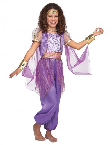 Déguisement princesse orientale violette fille