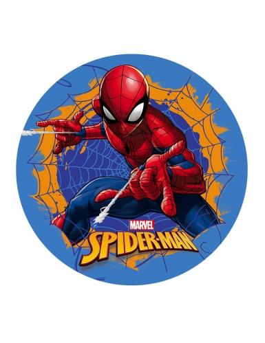 Disque en azyme Spiderman™ bleu 20 cm