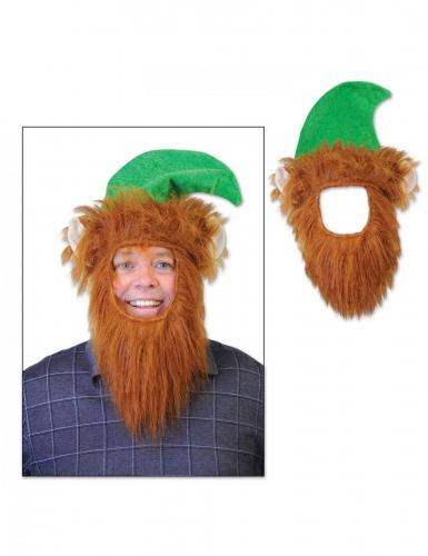 Chapeau avec barbe leprechaun adulte