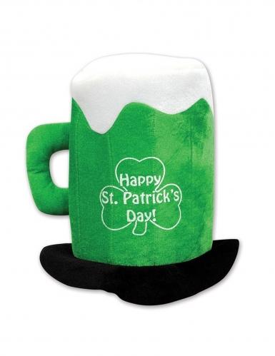 Chapeau chope de bière vert adulte