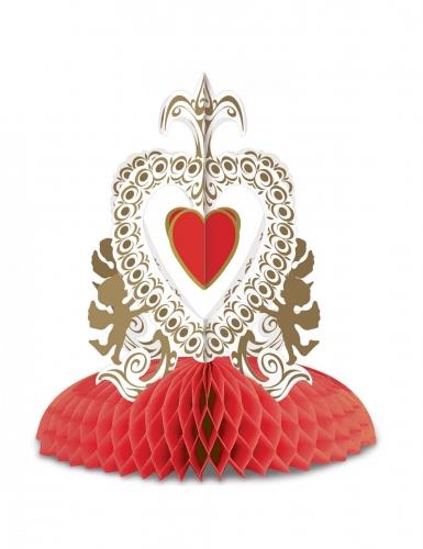 Centre de table vintage saint valentin rouge 30 cm