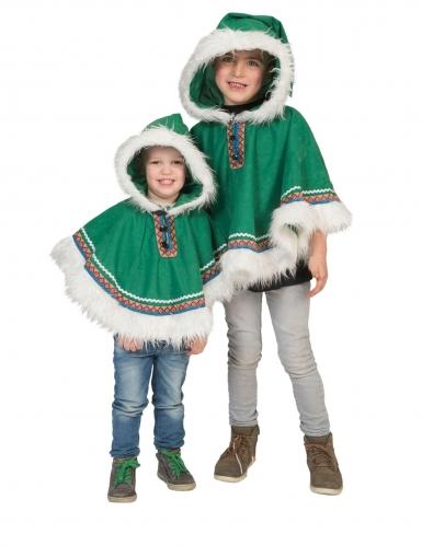 Poncho esquimau vert enfant