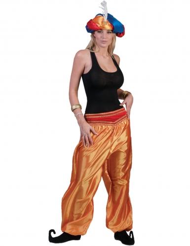 Pantalon doré danseuse femme