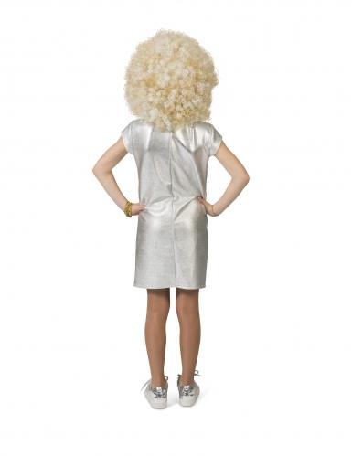 Déguisement robe argent disco fille-1