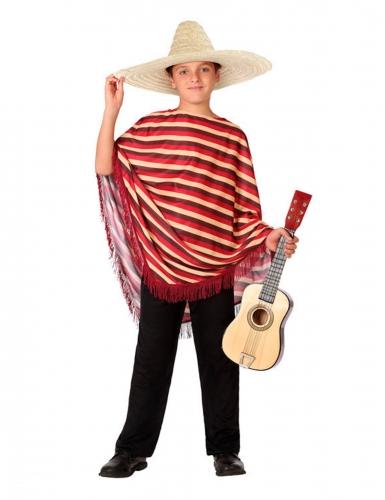 Déguisement de Mexicain avec poncho garçon