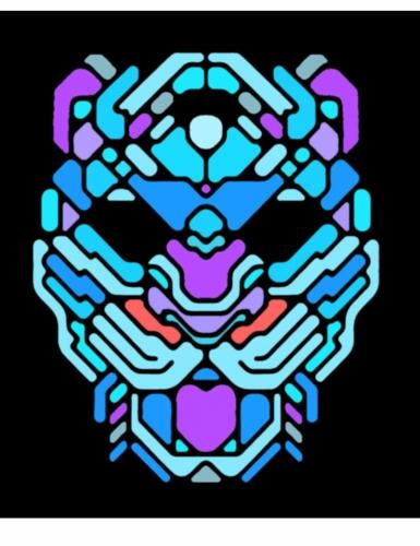 Masque léopard à LED réactives adulte-1