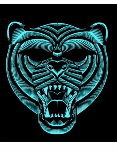 Masque tigre à LED réactives adulte-1
