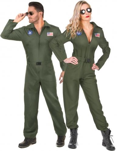 Déguisement de couple pilote avion adulte