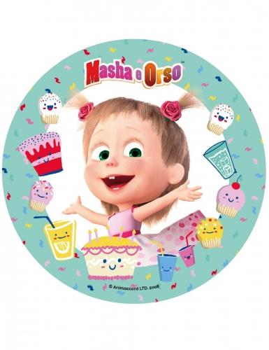 Disque en sucre Masha et Michka™ 21 cm