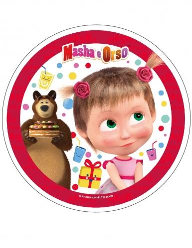 Disque en azyme Masha et Michka™ rouge 21 cm