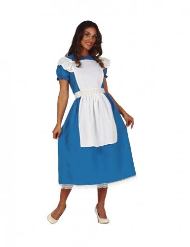 Déguisement princesse merveilleuse bleue femme