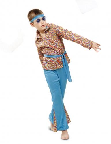 Déguisement hippie psychédélique garçon-1