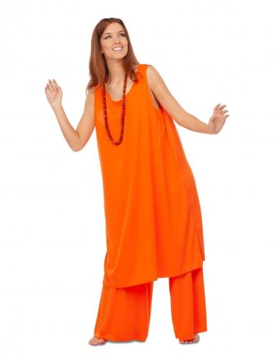 Déguisement disciple orange femme-2