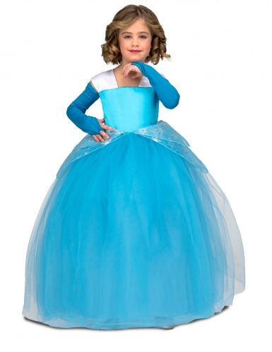 Déguisement princesse de bal bleu fille