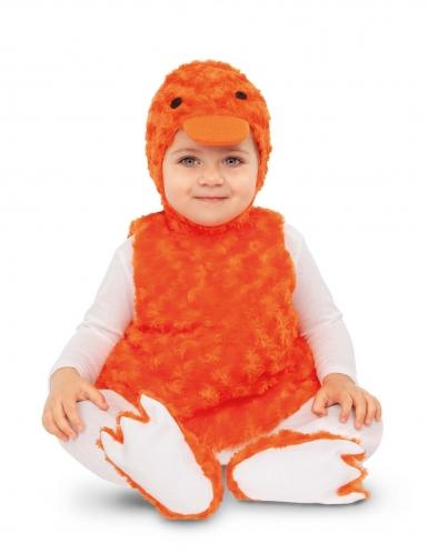Déguisement petit canard peluche orange