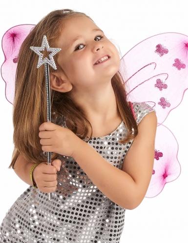 Baguette magique étoile rose adulte et enfant-1