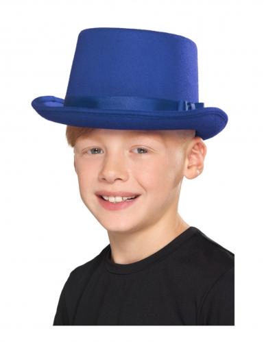 Chapeau haut de forme bleu enfant