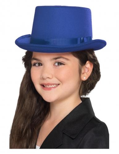 Chapeau haut de forme bleu enfant-1