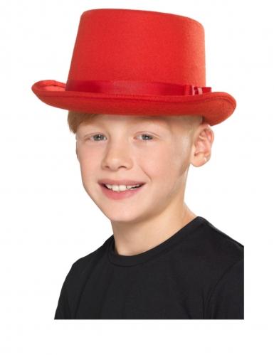 Chapeau haut de forme rouge enfant