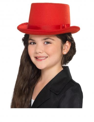 Chapeau haut de forme rouge enfant-1
