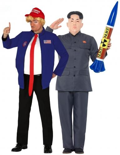 Déguisement de couple hommes politiques Coréen et Américain adulte
