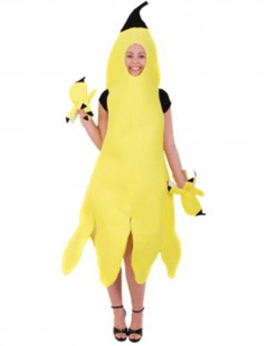 Déguisement banane épluchée femme