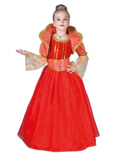 Déguisement reine rouge fille