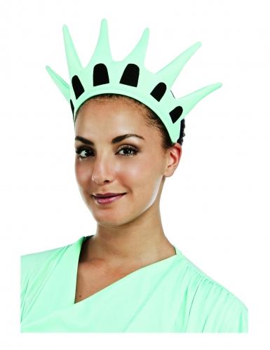Couronne statue de la liberté en tissu adulte