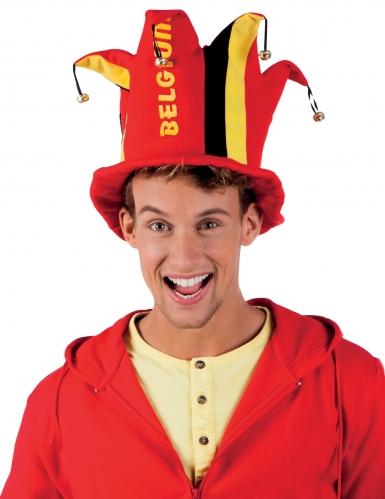 Chapeau haut de forme supporter Belgique adulte