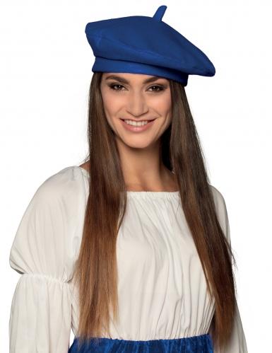 Béret basque bleu adulte