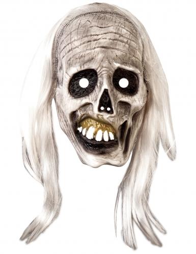 Masque et perruque zombie adulte-1