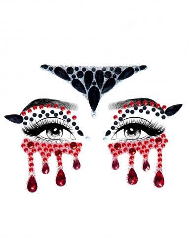 Bijoux pour visage adhésifs vampire-1