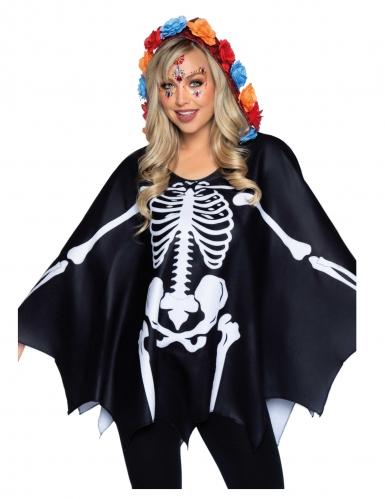 Cape squelette noire femme