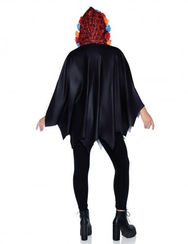 Cape squelette noire femme-1