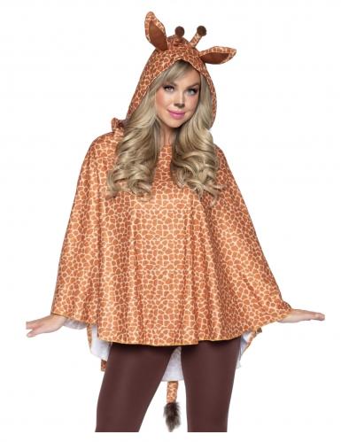 Tunique à capuche girafe femme