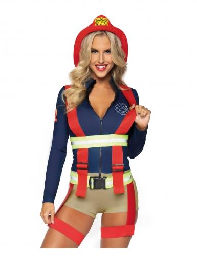 Déguisement luxe short pompier sexy femme