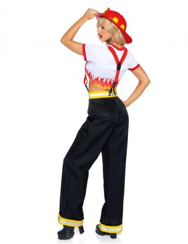 Déguisement luxe pantalon pompier femme-1