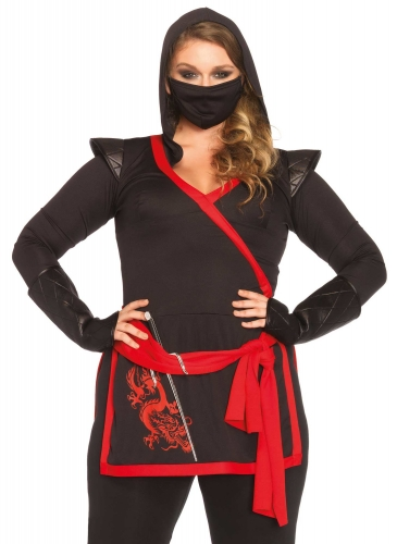 Déguisement luxe ninja grande taille femme-1