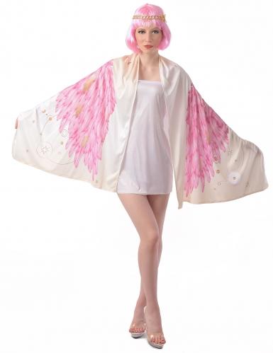 Déguisement Ailes d'ange poncho rose femme