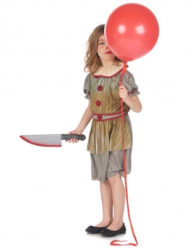 Déguisement clown terrifiant gris fille-1