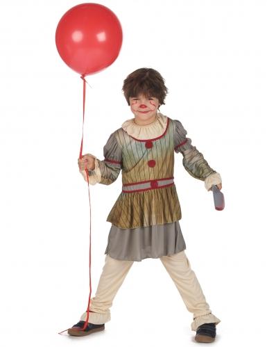 Déguisement clown terrifiant gris garçon-1