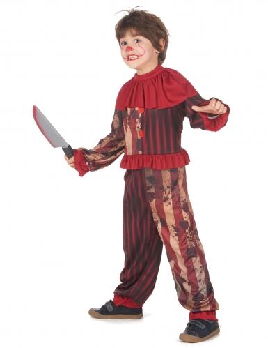 Déguisement clown terrifiant rouge garçon-1