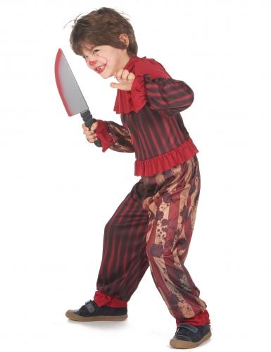 Déguisement clown terrifiant rouge garçon-2