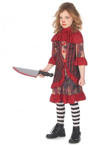 Déguisement clown terrifiant rouge fille-1