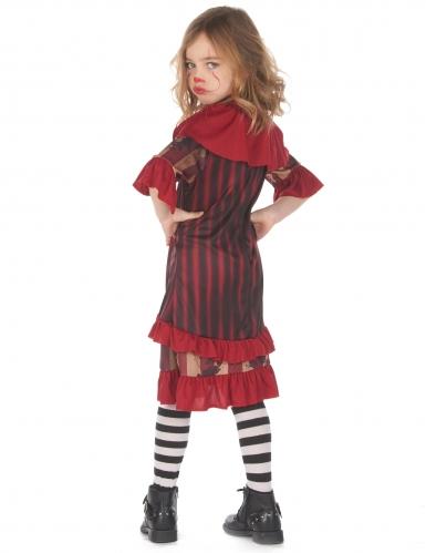 Déguisement clown terrifiant rouge fille-2