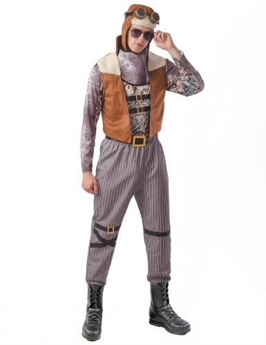 Déguisement steampunk aviateur homme