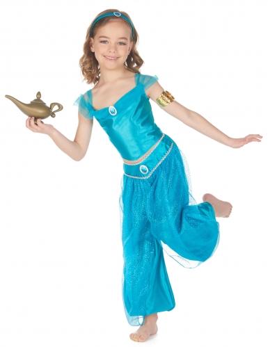 Déguisement princesse orientale bleue fille-1