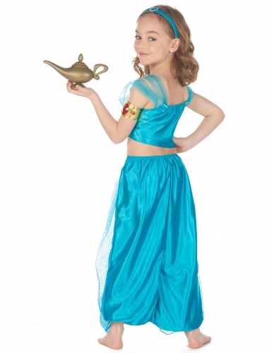 Déguisement princesse orientale bleue fille-2